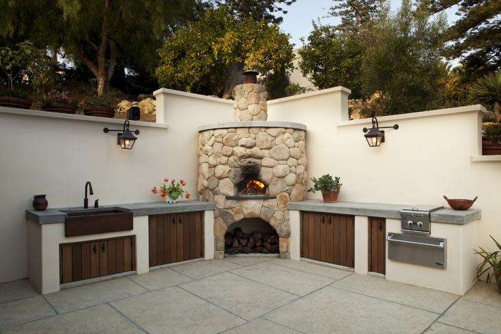 outdoor kitchen with freestanding grill moen sink faucets 18+ designs, ideas   design trends ...