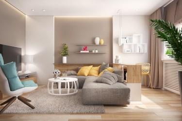 living room feminine idea designs yellow interior ideal beige