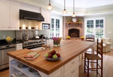 fireplace kitchen brick designs interior vector