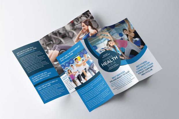 15 Gym Brochures Printable PSD AI InDesign Vector