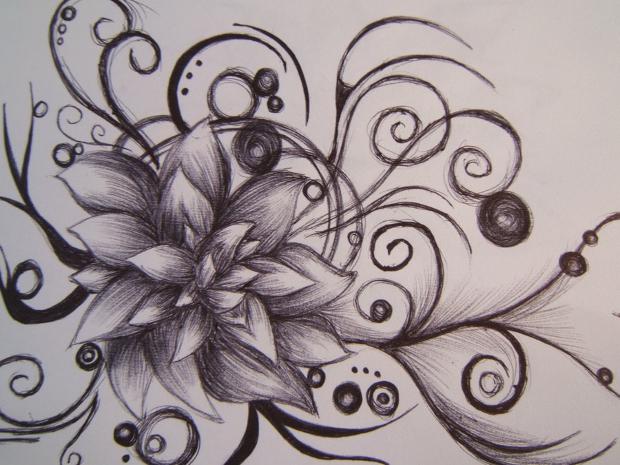 20+ Flower Drawings, Sketches