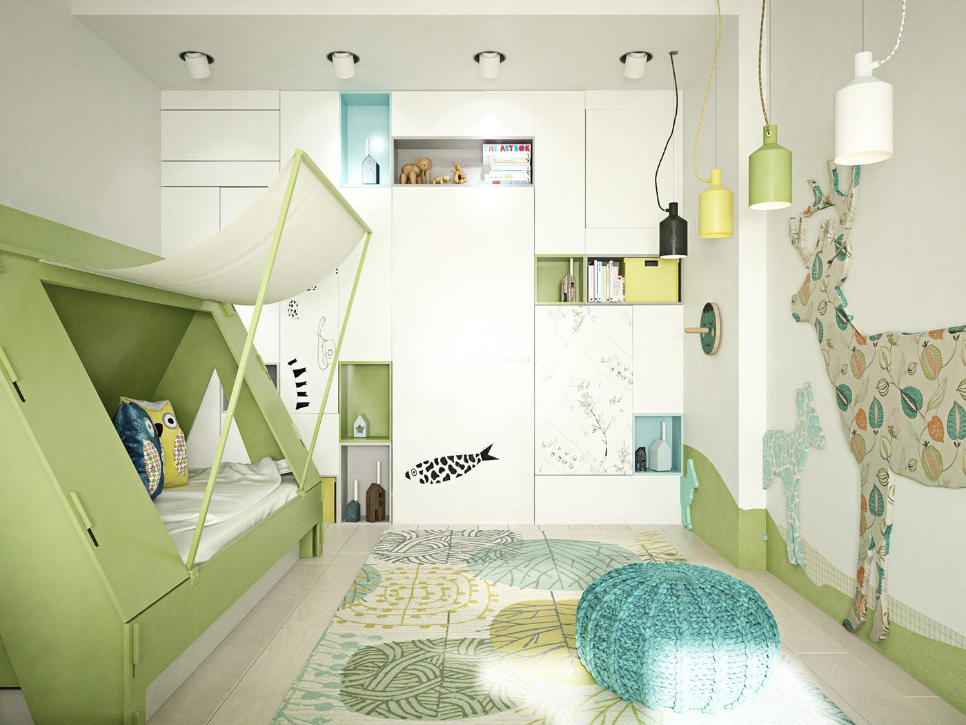 18+ Kids Bedroom Lighting Designs, Ideas  Design Trends