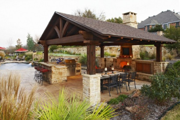 outdoor kitchen covered patio 46+ Roof Designs, Ideas | Design Trends - Premium PSD