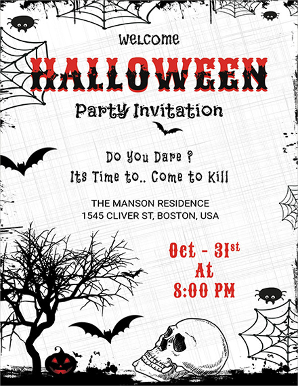 Choose from tons of unique invite designs that you can customize online in minutes. 14 Halloween Party Invitation Designs Design Trends Premium Psd Vector Downloads