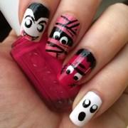 monster nail art design ideas