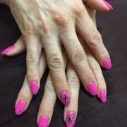 dragonfly nail art design