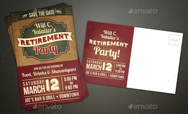 invitation for retirement