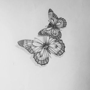 butterfly drawing drawings simple cards designs abstract paintingvalley