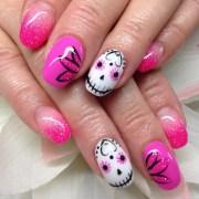 sugar skull nail design ideas