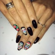 sugar skull nail design ideas