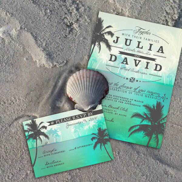 Beach Wedding Invitations