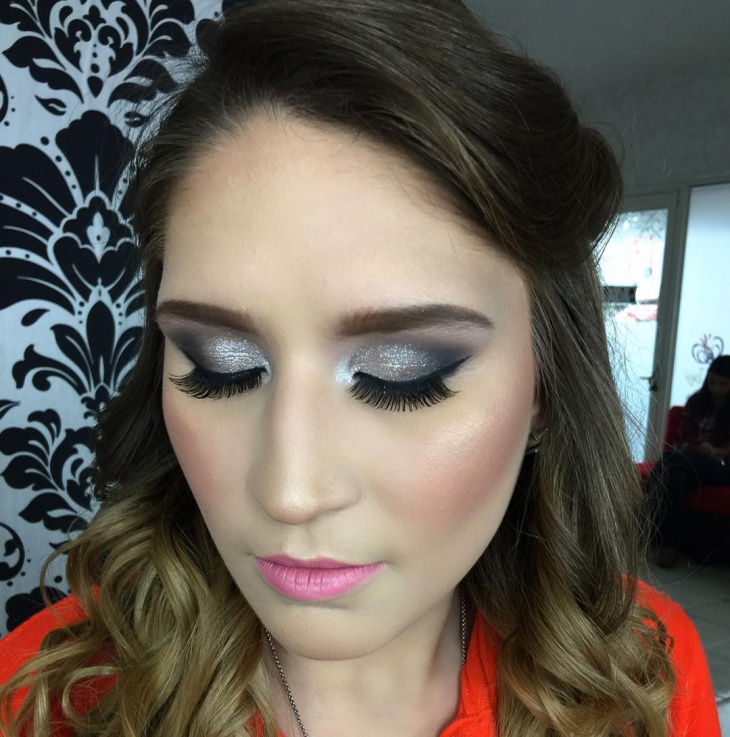 Black And Silver Prom Makeup Fashion