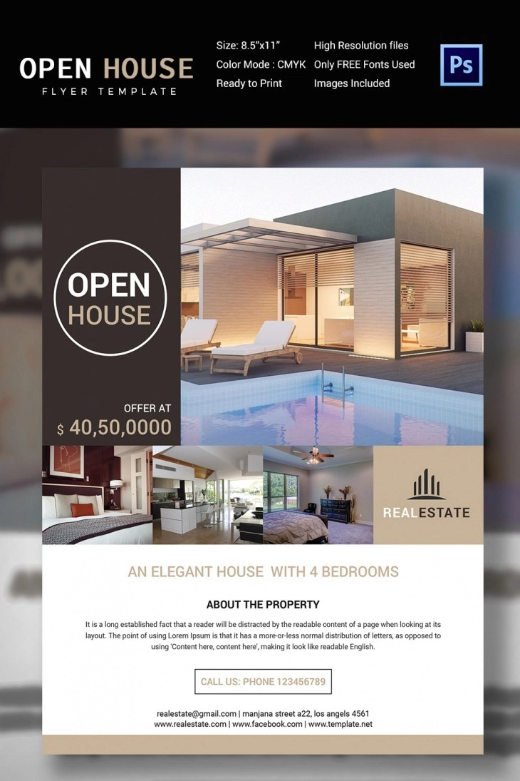 A template is something that establishes or serves as a pattern for reference. 30 Open House Flyers Printable Psd Ai Word Eps Vector Design Trends Premium Psd Vector Downloads