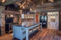 Kitchen: Rustic Farmhouse Kitchen Table