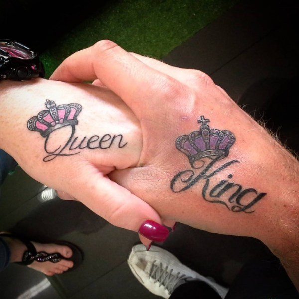 20 Couple Tattoos King And Queen Wrist Ideas And Designs