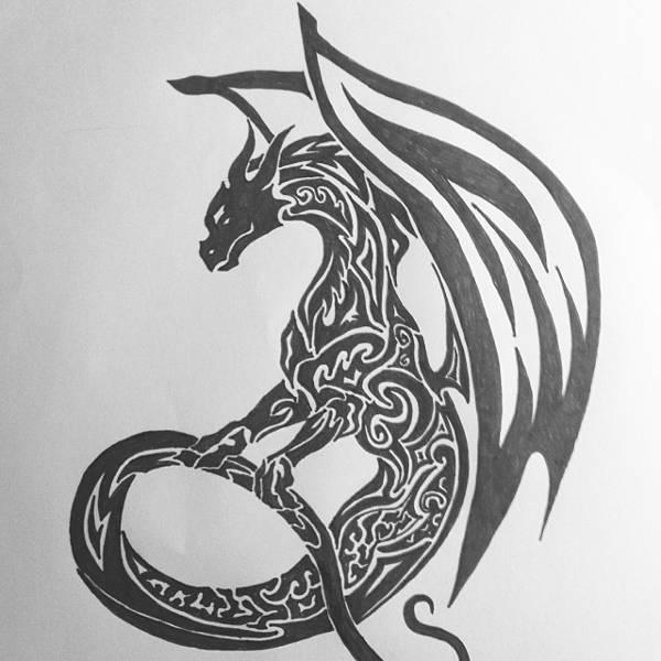 11 Dragon Drawings Art Ideas Design Trends Premium