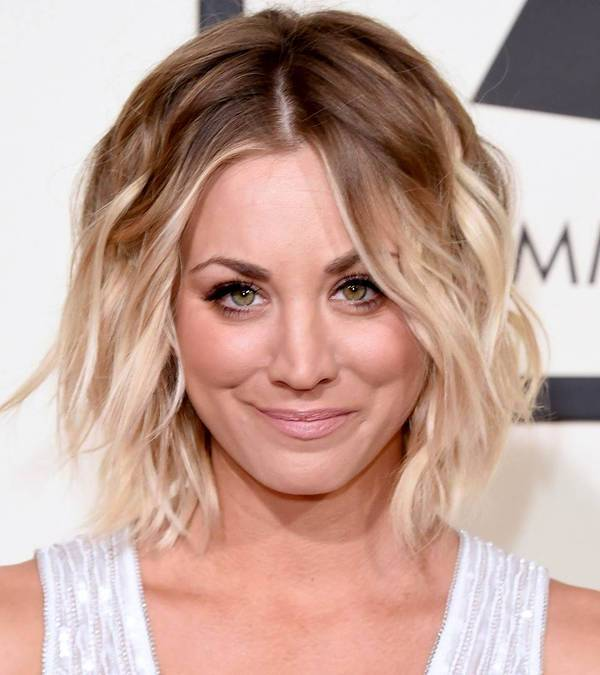 Kaley Cuoco Edgy Haircuts For Round Faces