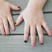 minnie mouse nail art design