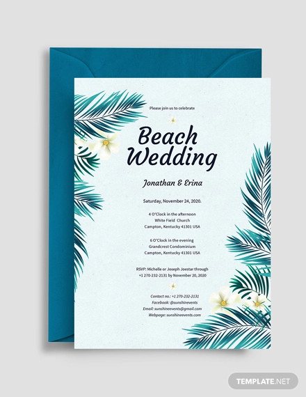 beach wedding invitation background