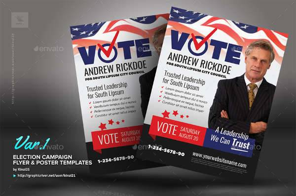 political campaign flyers template