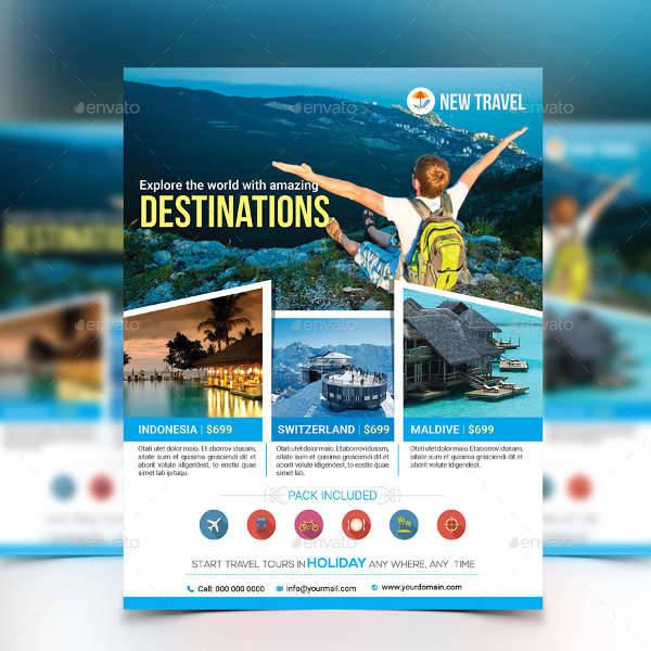 Travel Flyer Designs Design Trends Premium PSD Vector