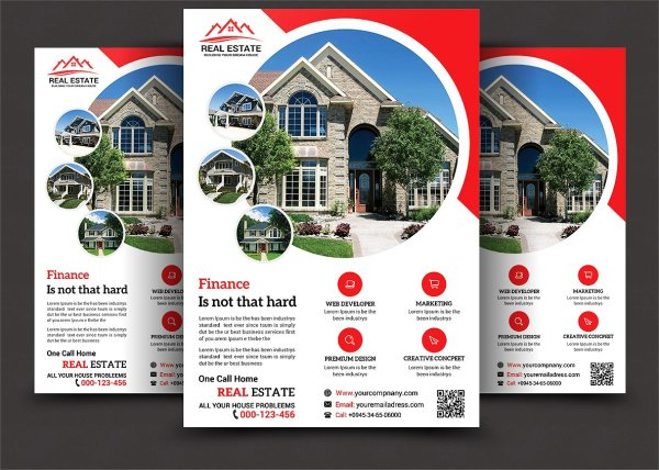 Real Estate Flyers - Word Psd Ai Eps Vector Formats Design Trends Premium