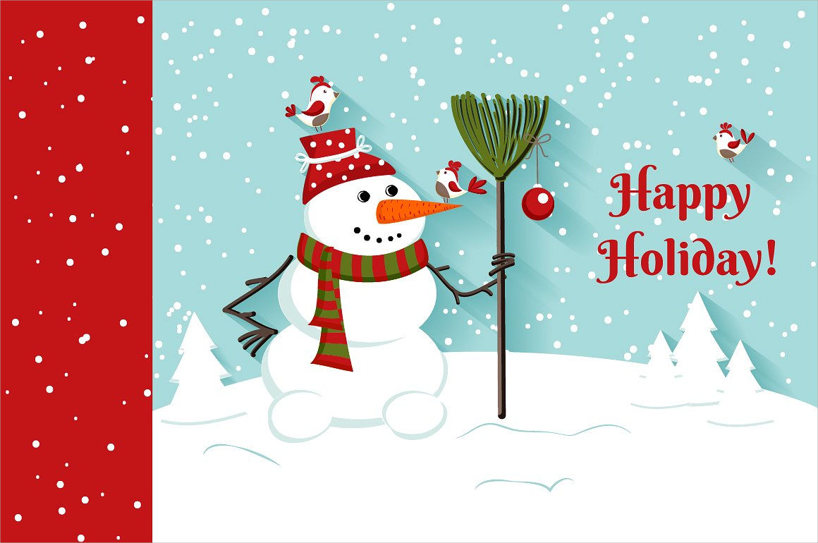 16 Holiday Card Designs Design Trends Premium PSD