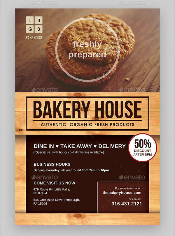 24 Bakery Flyers Templates Indesign Psd Publisher Ms