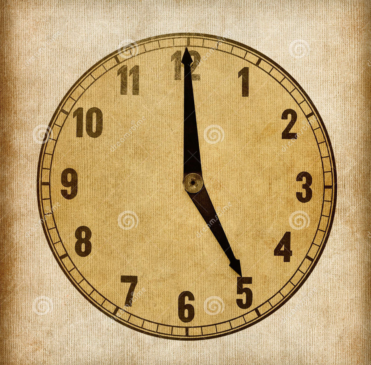 paper clock template