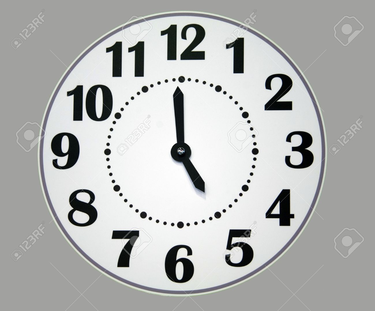 Clock Printable White Face Numbers Black