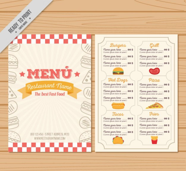 16 Vintage Menu Designs Templates Ai Psd Docs Pages