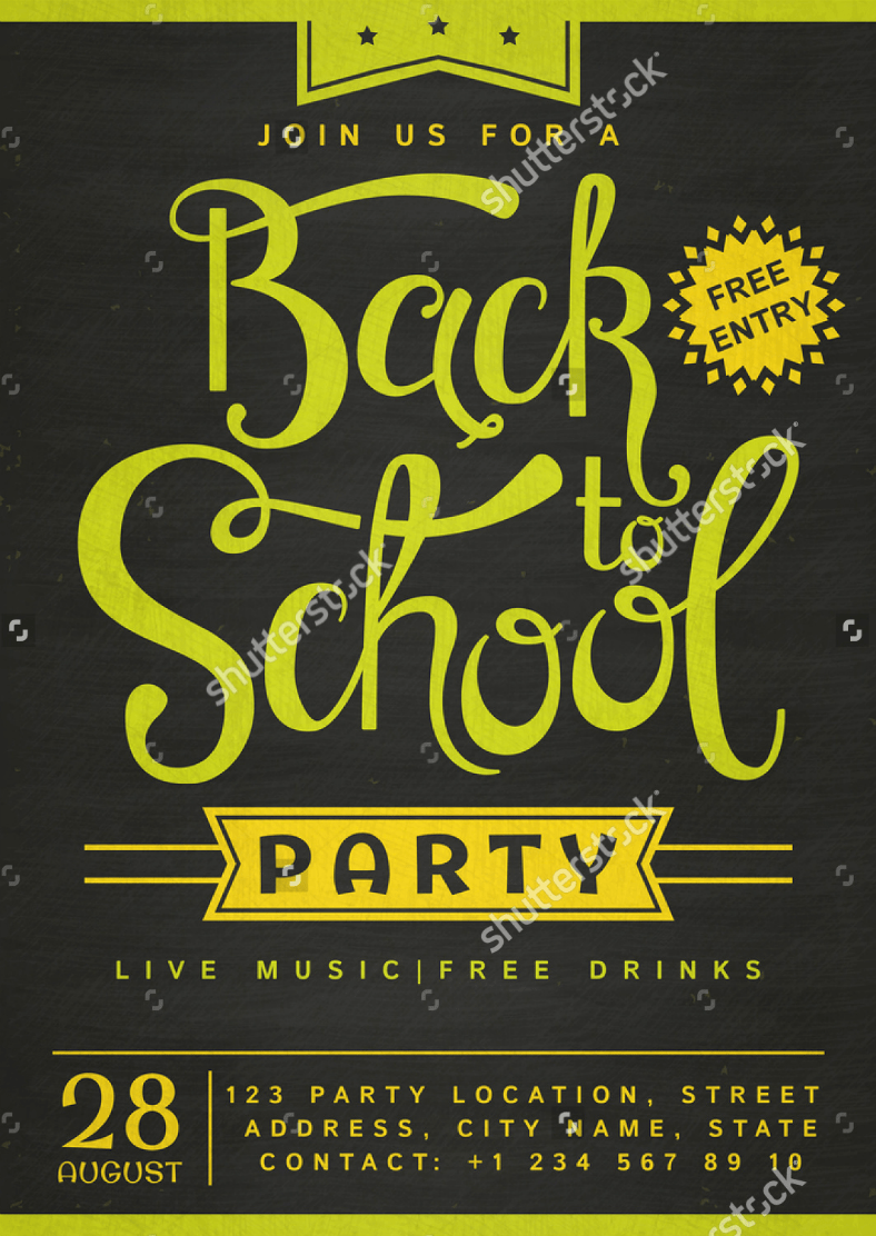 11 Back To School Flyer Templates  AI Pages PSD Word