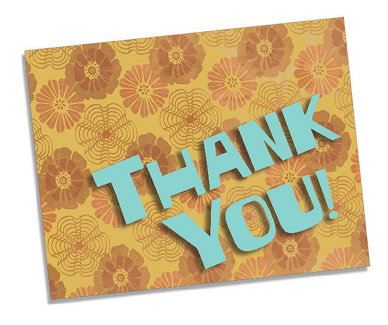 thank you card background