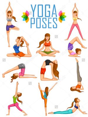yoga illustration designs artistic graphic illustrations celebrate international vector