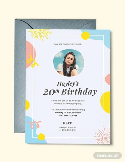 48 birthday invitations psd ai