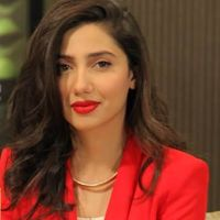 Mahira Khan in red dress