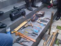 Sweeping Kader HMI di Arena Kongres, Polisi Temukan Sajam dan Senpi Rakitan