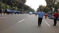 Sopir Taksi Demo di Depan Balaikota, Lalin Arah Patung Kuda Ditutup