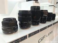 Pilihan lensa untuk Fujifilm GFX 50S.
