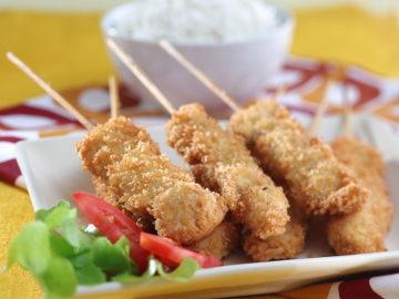 Resep Ayam: Satai Ayam Goreng