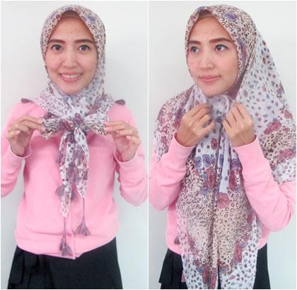 Cara Memakai Hijab Turki Ala Kiki Oktaviani
