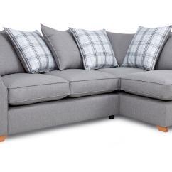 Grey And White Corner Sofa Twill Fabric Dfs Brokeasshome