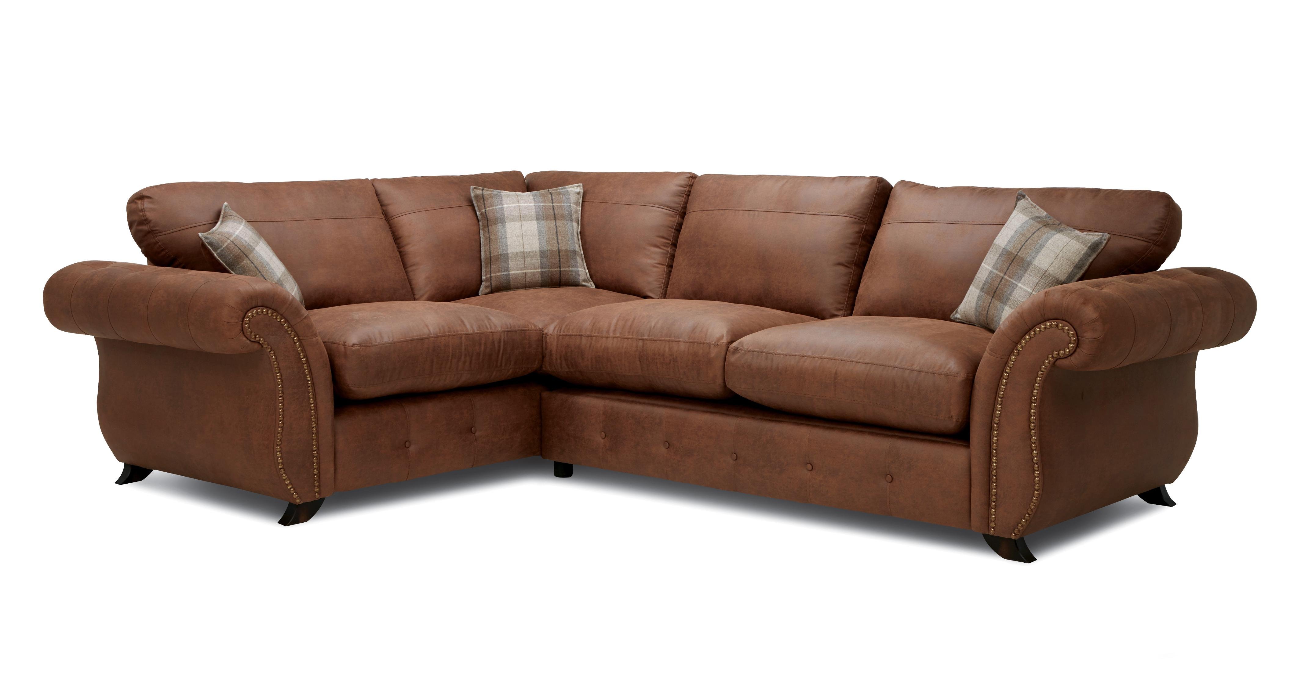 corner sofa dfs martinez t35 modern sectional bedford pillow back 3 seater oakland formal right hand facing