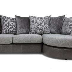 Abbie Right Chaise Sectional Sofa With Large Cushions By England Retro Furniture Bed Belmont Pillow Back Left Hand Facing 3 Seater End