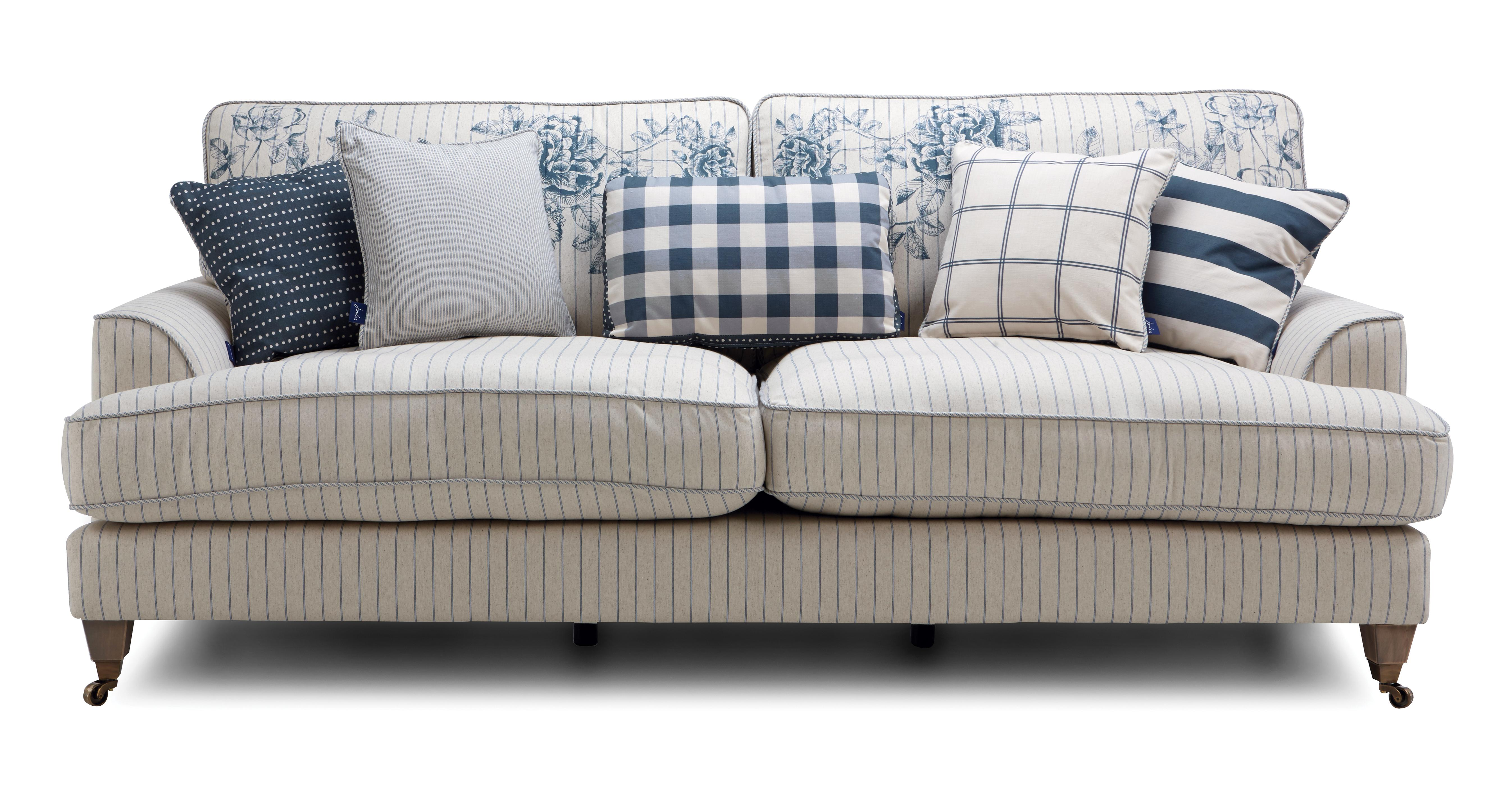 stripe sofa sectional with dual recliners striped sofas uk stkittsvilla