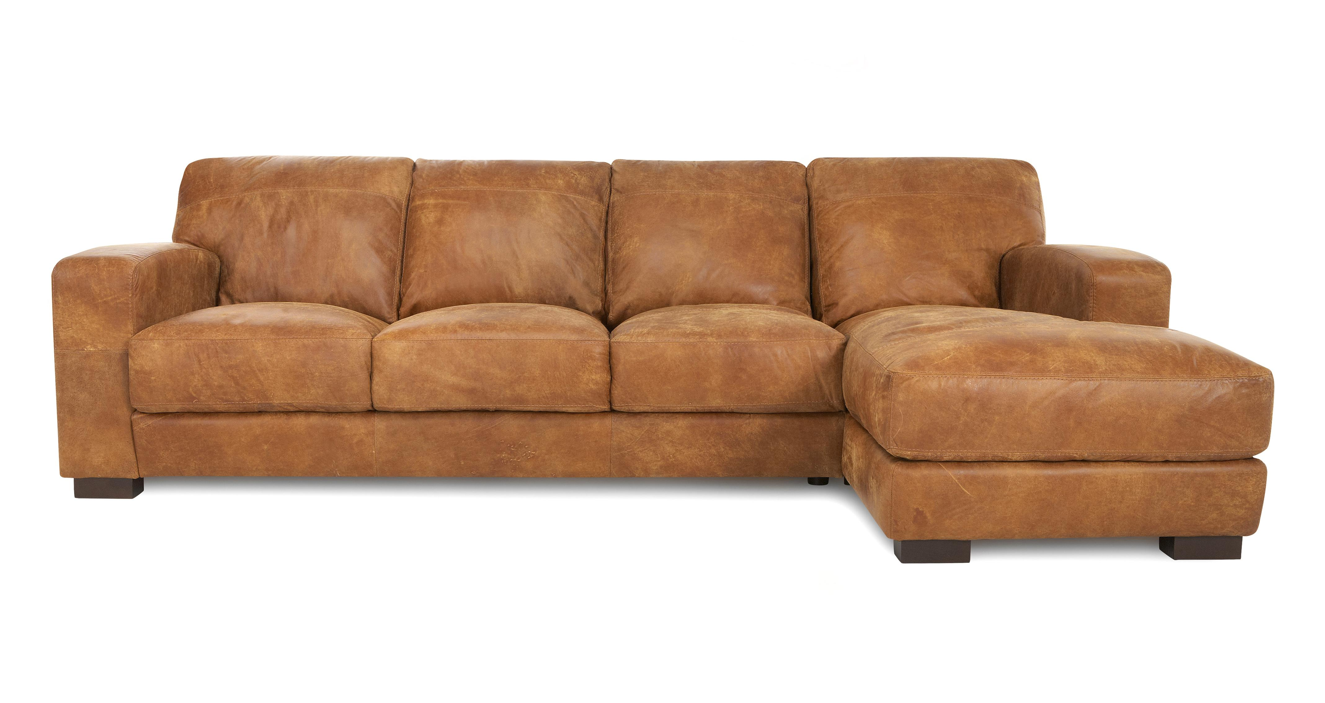 large chaise sofa dfs sale leather caesar right hand facing end outback