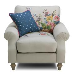 Dfs Cambridge Sofa Reviews Rv Seat Covers Cotton Armchair Plain And Floral
