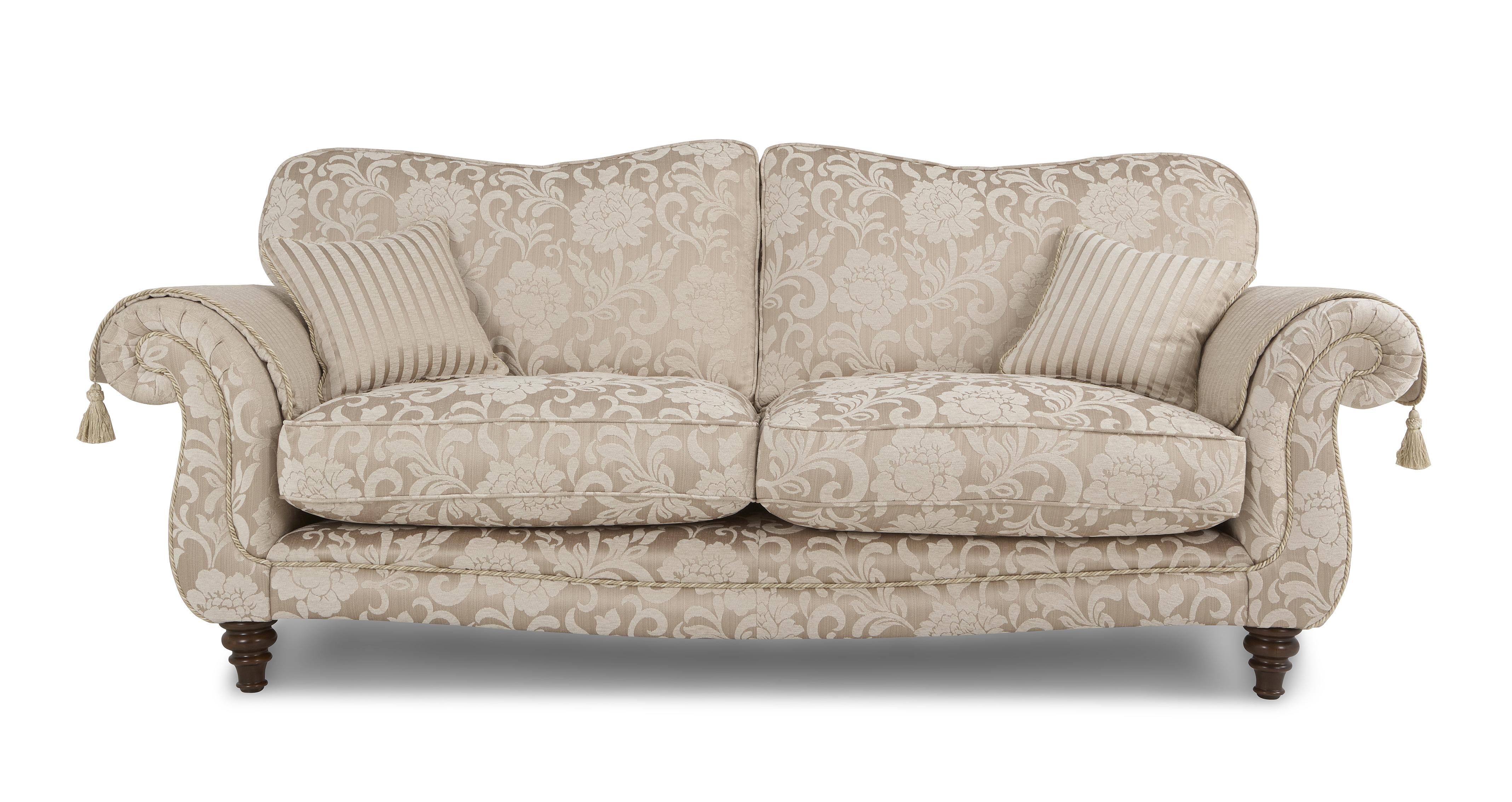 patterned sofas uk living room corner sofa designs colman 4 zits bank floral dfs banken