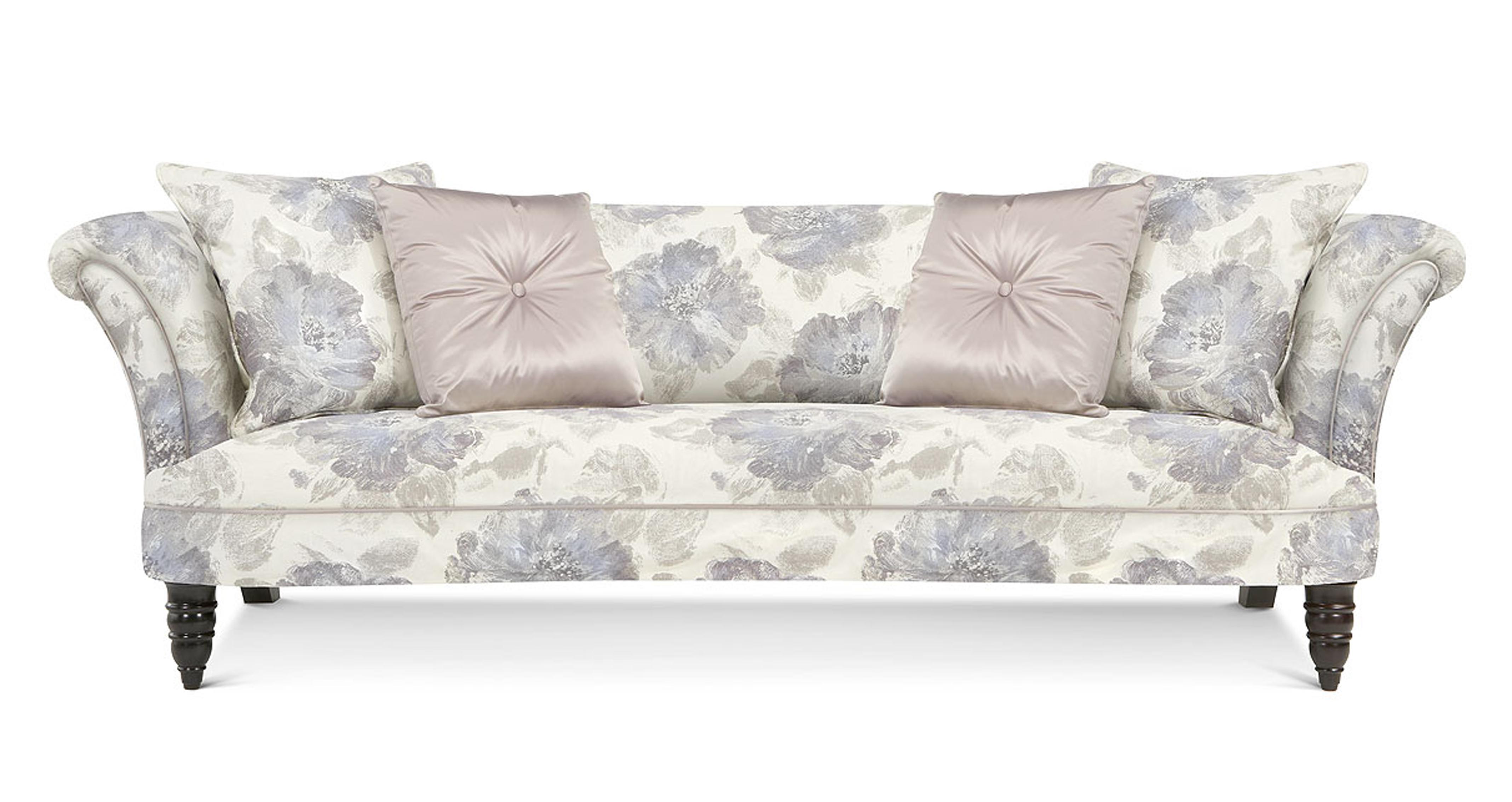 sofa 4 seater black faux leather futon concerto pattern dfs ireland