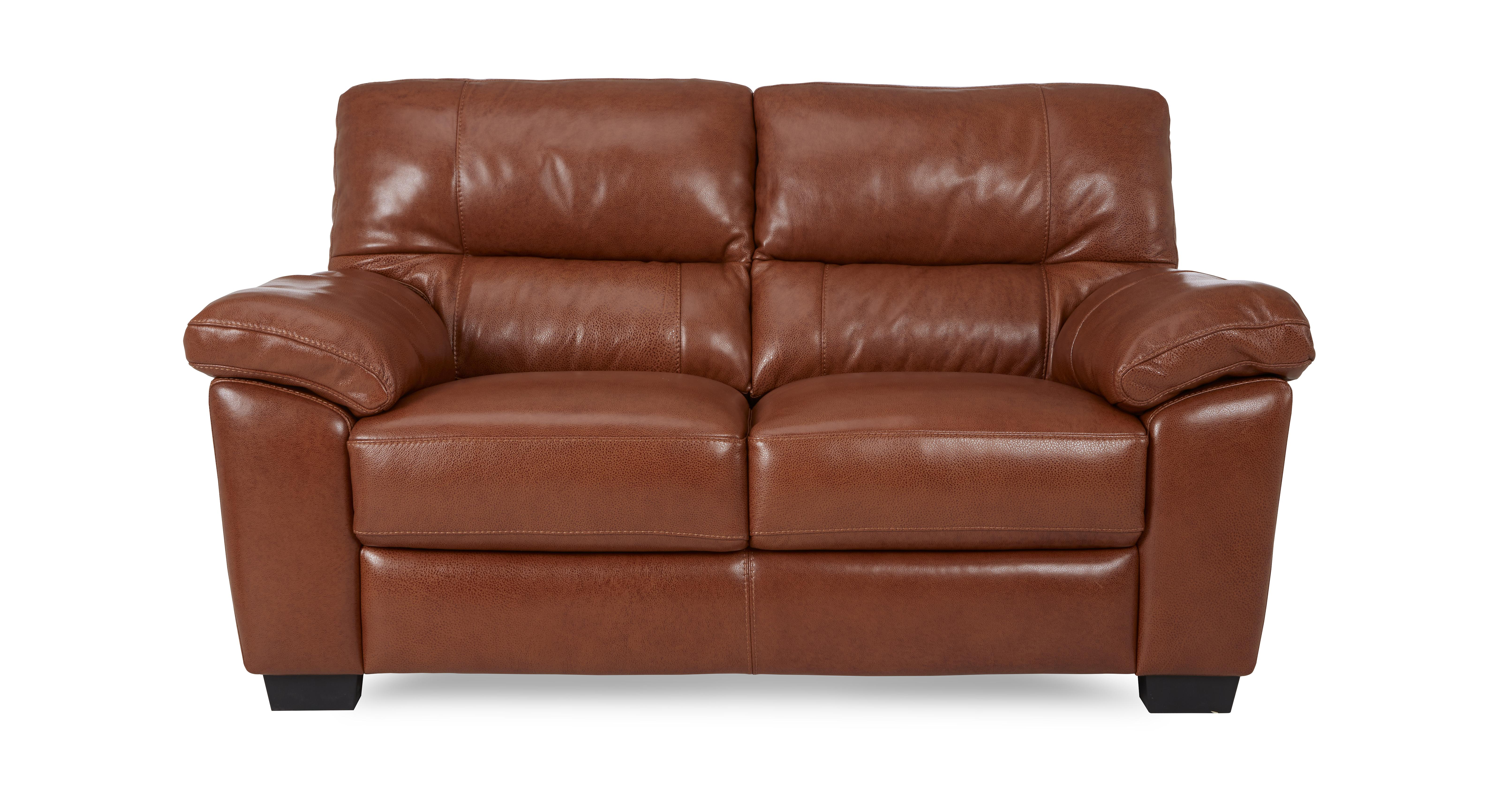 Dalmore Large 2 Seater Sofa Brazil With Leather Look